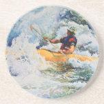 Kayak Image Beverage Coaster
