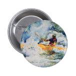 Kayak Image Pinback Button