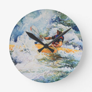 Kayak Image Round Clock