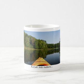 Kayak into nature... coffee mug