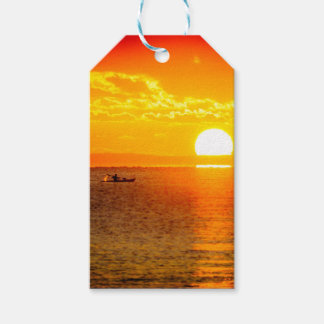 Kayak into the Sunrise Gift Tags