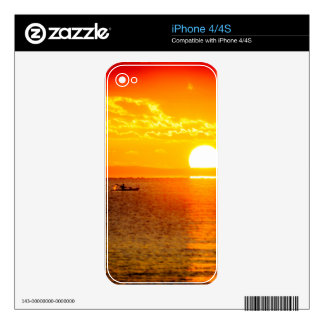 Kayak into the Sunrise iPhone 4 Skins