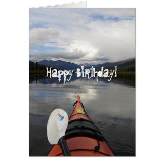 Kayak Journey; Happy Birthday Card