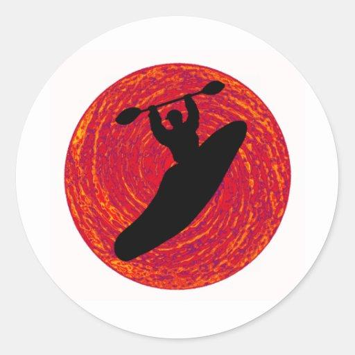 kayak Joy Rides Round Sticker