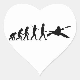 Kayak Kayaking Sport Heart Sticker
