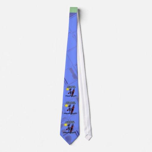 Kayak las ondas reservadas de una paleta corbatas personalizadas