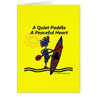 Kayak las ondas reservadas de una paleta tarjeta de felicitación