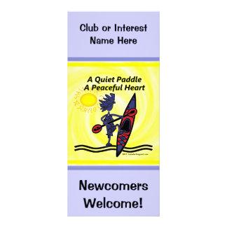 Kayak las ondas reservadas de una paleta tarjeta publicitaria