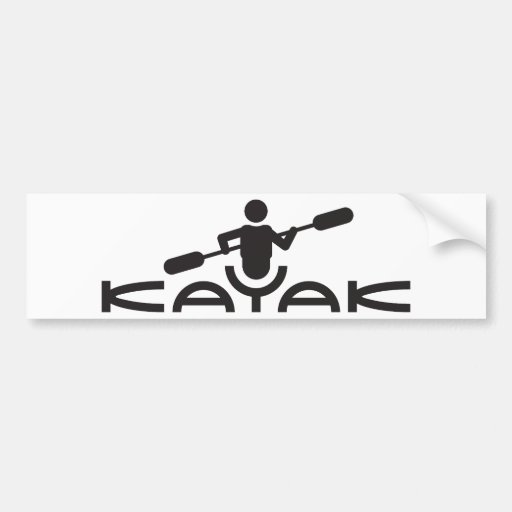 Kayak Logo Bumper Sticker