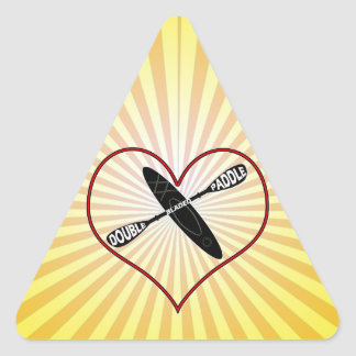 KAYAK LOGO LOVE HEART DOUBLE BLADED TRIANGLE STICKER