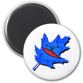 Kayak many rivers 2 inch round magnet