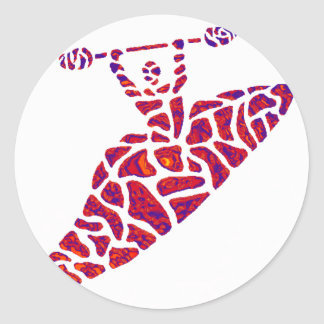 Kayak maroon twister stickers