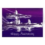 Kayak Multi-purpose Greeting Card in Purple Tones