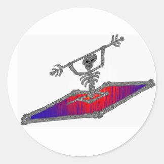 Kayak my job classic round sticker