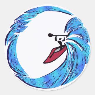 kayak Oahu dreams Classic Round Sticker