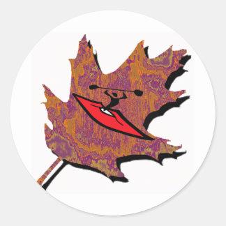Kayak Oak Runs Classic Round Sticker