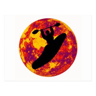 Kayak Ocoee Moon Postcard