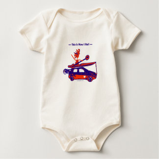 Kayak On Car - This is how I roll! Baby Bodysuit