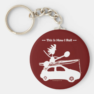 Kayak On Car - This is how I roll! Keychain