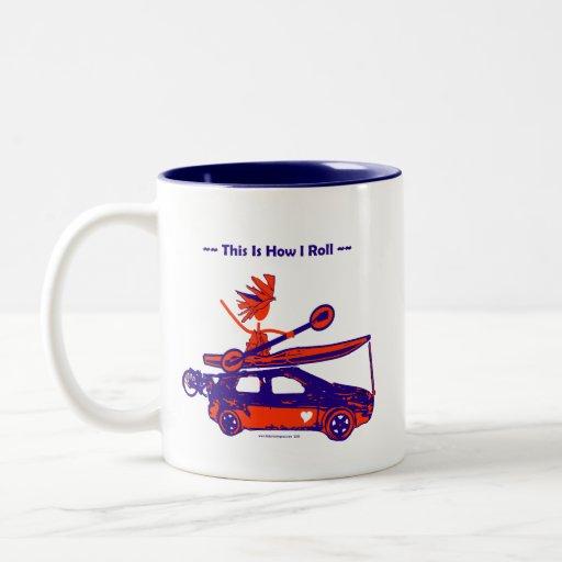 Kayak On Car - This is how I roll! Mug