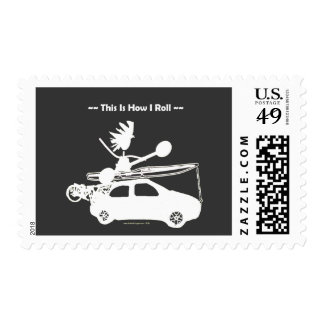 Kayak On Car - This is how I roll! Stamps