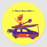 Kayak On Car - This is how I roll! Classic Round Sticker