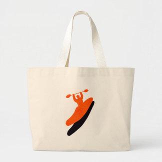 Kayak orange blaster jumbo tote bag