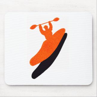 Kayak orange blaster mouse pad