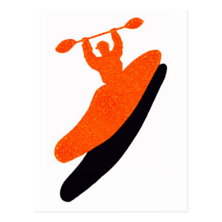 Kayak orange blaster postcard