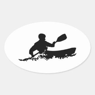 Kayak Oval Sticker