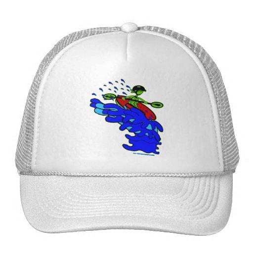 Kayak Over Waterfall Shirts & Things Mesh Hat