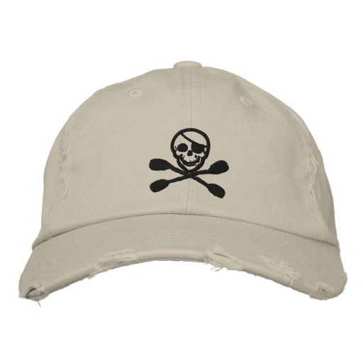 Kayak Paddle Pirate Cap Embroidered Hats