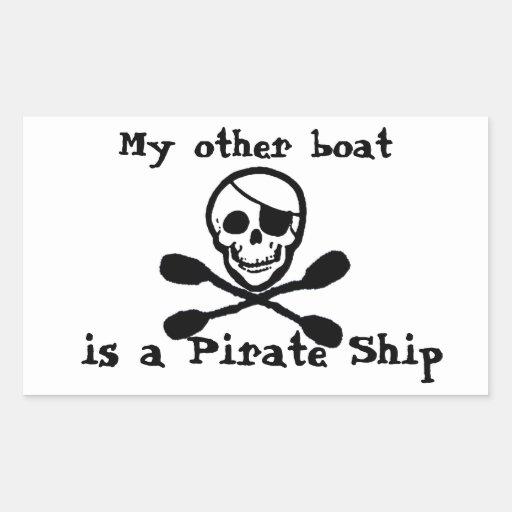 Kayak Paddle Pirate Ship Sticker
