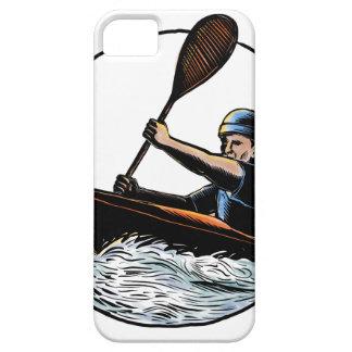 Kayak Paddler Canoe Scratchboard iPhone SE/5/5s Case