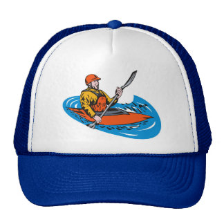 kayak paddler paddling canoe kayaking hats