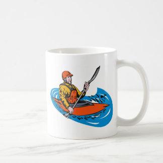 kayak paddler paddling canoe kayaking coffee mugs
