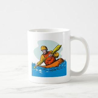 kayak paddler paddling canoe kayaking mugs