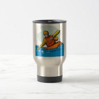kayak paddler paddling canoe kayaking coffee mug