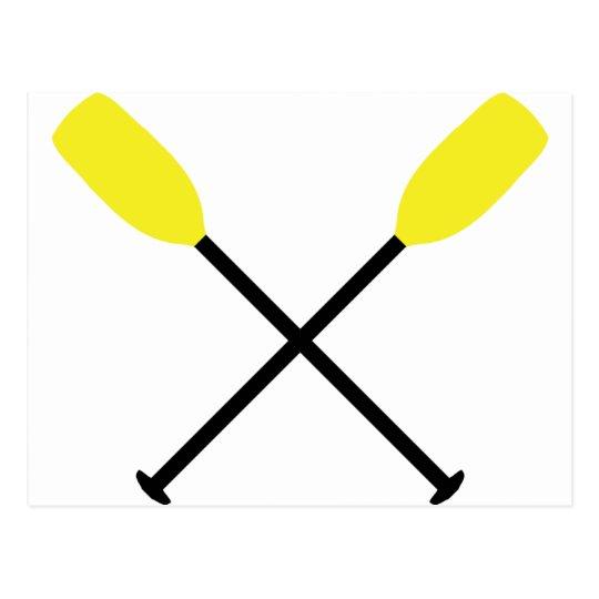 kayak paddles crossed postcard