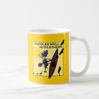Kayak Paddles Well on Yellow Coffee Mug