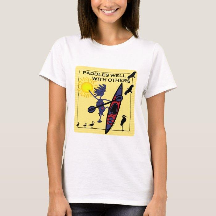 Kayak Paddles Well on Yellow T-Shirt