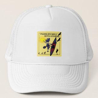 Kayak Paddles Well on Yellow Trucker Hat