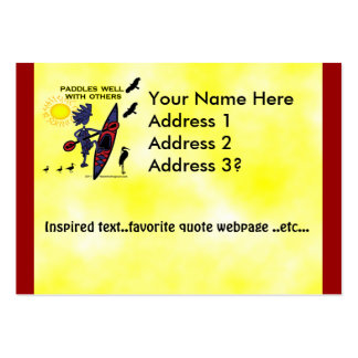 Kayak Paddles Well With Others II Large Business Cards (Pack Of 100)