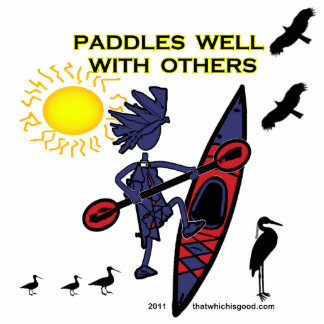 Kayak Paddles Well With Others II Statuette