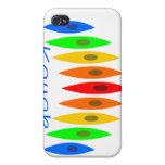 kayak rainbow iPhone 4/4S case