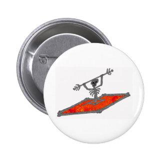 Kayak Red Bones Pinback Button
