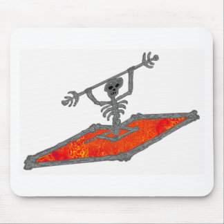 Kayak Red Bones Mouse Pad