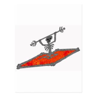 Kayak Red Bones Post Cards