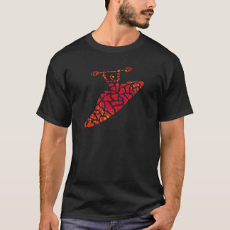 Kayak RED Sides T-Shirt