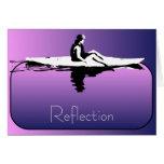 Kayak Reflections all-purpose Greeting Card Purple